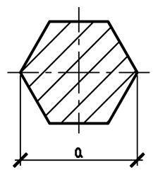 Шестигранник металлический