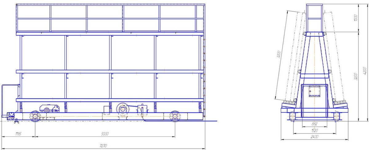Тележка-прицеп СМЖ-154 - чертеж